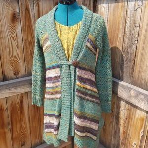 BKE oversized high low boho cardigan sweater
